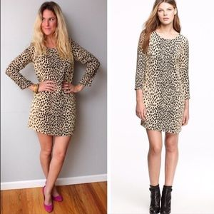j. crew // leopard print jules shift dress animal